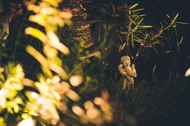 angel statue in the grass