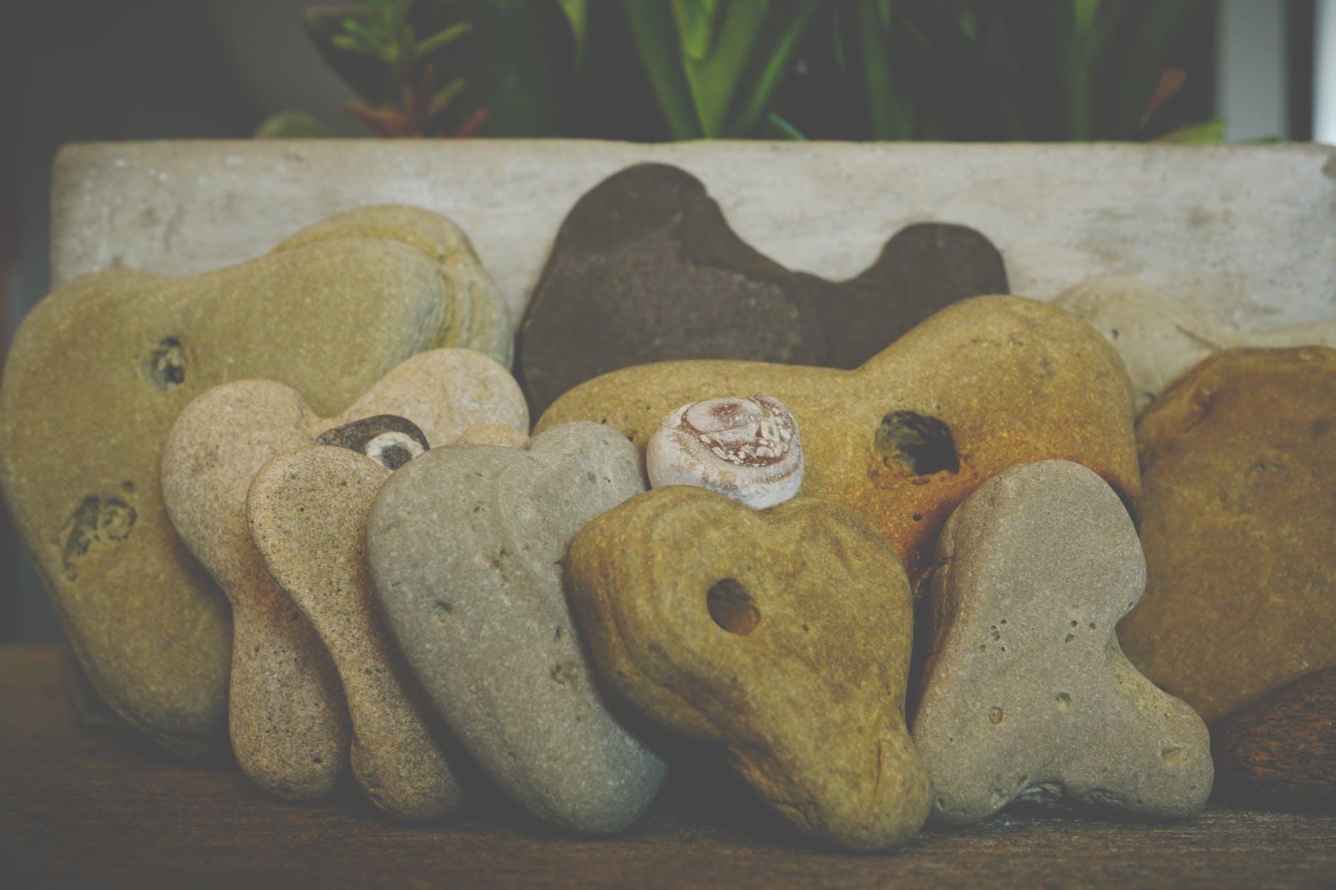 close up photo of arranged stones